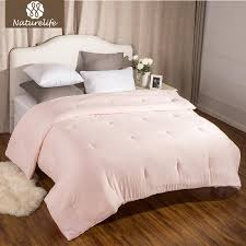 2019 naturelife washed cotton like duvet comforter insert with corner ties solid pink quilted down alternative edredom futon from herbertw 40 24 dhgate