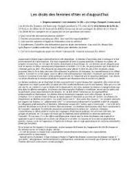 Контр работа № контрольная по иностранным языкам на французском  les droits des femmes d hier et d aujourd hui статья по иностранным