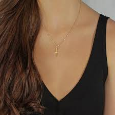 whole silver gold chain cross pendant necklace small gold cross chokers necklaces hip hop jewelry for men women gifts dhl free silver pendant