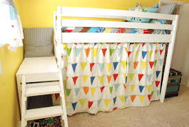 diy jr camp loft bed with curtain do it yourself home projects additional photos modern bunk beds toddlers diy
