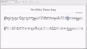 The Office Theme Song For Alto Bari Sax Sheet Music