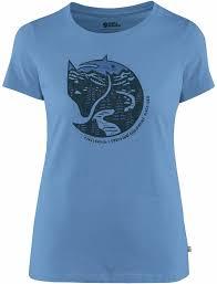 <b>Футболка</b> женская <b>Fjallraven Arctic Fox</b> Print River Blue - купить в ...