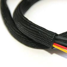 wire sleeving braided sleeving braid cable wiring harness loom protection black
