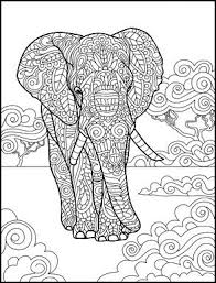 Small Picture 161 best Elephant Coloring Pages for Adults images on Pinterest