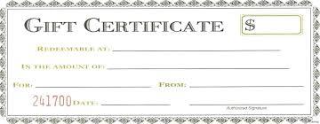 Create Gift Certificate Template