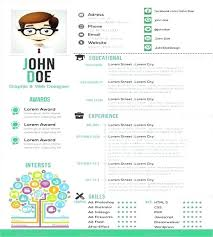 Single Page Resume Template Interesting One Page Resume Template Professional Templates Free Single Word