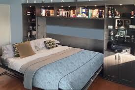 horizontal queen murphy bed open becomes comfortable sleeping quarters