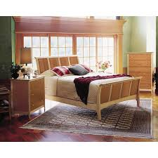 Built Bedroom Furniture Moduluxe Sarahu0027s High End Shaker Style Cherry And Maple Two Tone Wood Sleigh Bed Has A Custom Look American Made Bedroom Furniture From VT Built Moduluxe