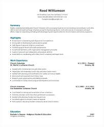 Volunteer Resume