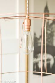 copper lighting fixture. rock what ya got upcycled copper wire pendant lights from ugly lampshades u2022 vintage revivals lighting fixture