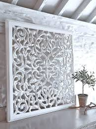 gift inspiration decorating wall panel design and decor white carved pier 1