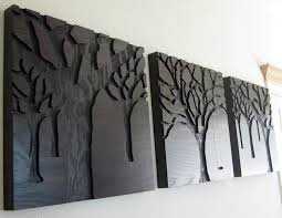rustic modern wood sculpture wall art triptych art 3 set large trees forrest wall art hang on large wooden tree wall art with wall art best collection wood sculpture wall art metal artwork for