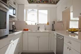 mid century modern kitchen white. Kitchen Decorative Quartz Countertops White Cabinets Mid Century Modern With H