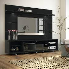 cabrini black tv stand floating wall tv panel w 2 2 led lights by manhattan comfort