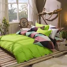 olive king size cotton solid pattern green duvet covers