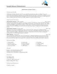 Professional Profile Resume 20 Section. Resume Companion Sample .