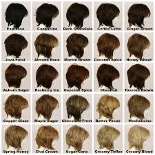Wheat Hair Color Chart Tiffany Medium Wig