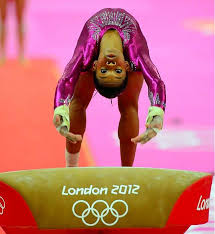 vault gymnastics gabby douglas. Gabby Douglas, The 16-year-old Olympic Gold Medalist, Vaults During Vault Gymnastics Gabby Douglas Sports Illustrated