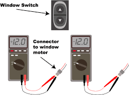 test power window regulator ricks auto repair advice ricks toggle the window switch and check meter to see if it switches from 12volts to