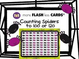 Spider Counting To 100 And 120 More Flash Less Cards