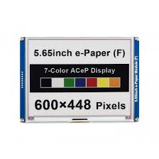 5.65inch ACeP <b>7</b>-<b>Color</b> E-Paper E-Ink Display Module, 600×448 ...