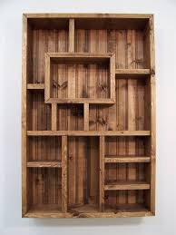 contemporary wooden box shelf wall real estate directory shadowbox wood shadow display art nz cape town
