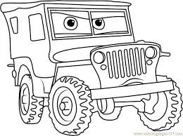 Small Picture Sarge from Cars 3 Coloring Page Free Cars 3 Coloring Pages