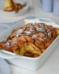 baked apple french toast once upon a chef