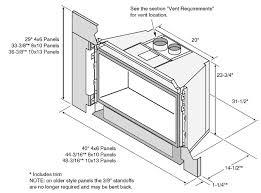 excellent fireplace dimensions modern fireplace xtrordinair 34 dvl gas insert monroe fireplace