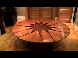 expanding round table throughout new technology expandable dining you inspirations 0