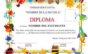 Aportes Plantillas De Diplomas Para Tu Clausura Escolar 2018 Mathtic