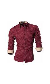 Mizzen And Main Size Chart 0 Sportrendy Men Slim Button Down Long Sleeves Dress