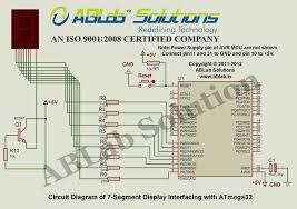 segment display interfacing avr atmega microcontroller circuit diagram 7 segment display interfacing avr atmega32 microcontroller