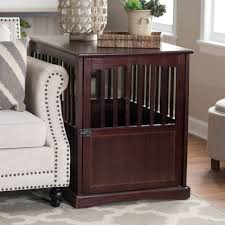 pet crate furniture. Large Wood Dog Crate End Table Indoor Kennel Cage Pet Bed Furniture House Black E