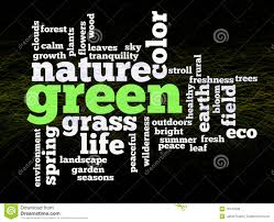 Word Of Nature Green Nature Environment Words Stock Illustration Illustration Of