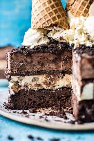 Triple Layer Chocolate Fudge Ice Cream Cake Half Baked Harvest