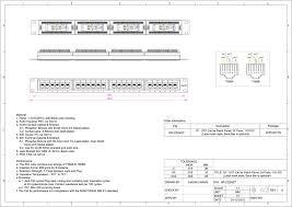 networx 24 port cat5e rack mount patch panel 1u Siemon 110 Block picture of 24 port cat5e rack mount patch panel 1u