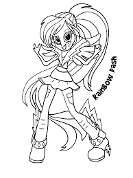 Coloring Pages Of My Little Pony Equestria Images Of My Little Pony