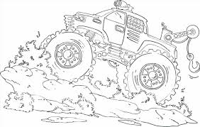 Monster Truck Coloring Pages For Kids Fresh Grave Digger Coloring
