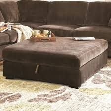 Sectional Corner Sofa And Tufted Ottoman Storage For Oversized Coffee Table  With Contemporary Area Rug For
