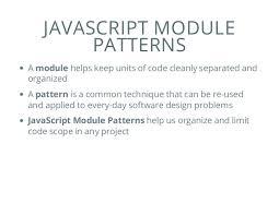 Module Pattern Javascript
