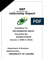 47356907 Nbp Internship Report Sample