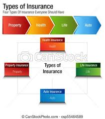 Insurance Chart Types Of Insurance Property Health Life Auto Chart