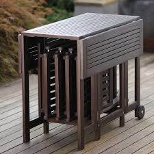northbeam folding square eucalyptus wood outdoor dining table