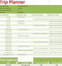 Holiday Planner Template Holiday Trip Planner My Excel Templates