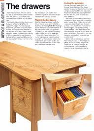 twin pedestal desk plans