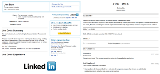 resume builder linkedin
