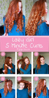 5 Minute Hairstyles For Girls Easy 5 Minute Curls For Lazy Girls Hair Pinterest Girls