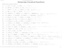 balance the following chemical equations worksheet balancing simple pdf
