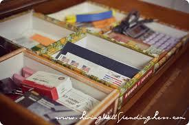 office drawer organizers. Cigar Box Desk Drawer Organizers--brilliant! #31days Of Living Well \u0026 Spending Office Organizers